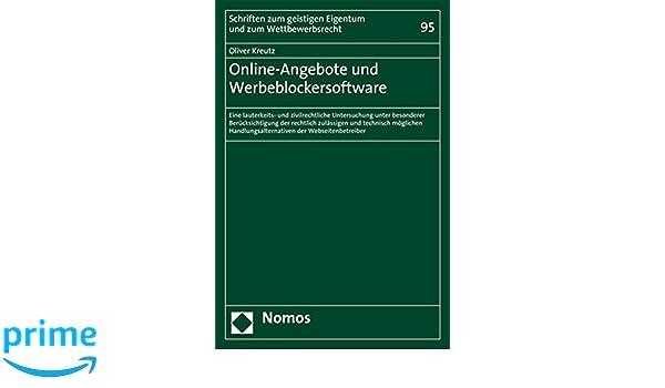 Online Angebote Und Werbeblockersoftware Eine Lauterkeits Und