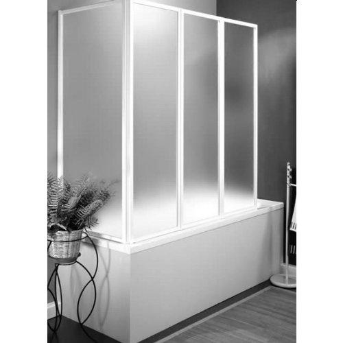 Vasca parete vasca sopravasca doccia box ante pieghevoli laccato bianco Mod. Stella profilo laccato bianco acrilico 67*136 H 140