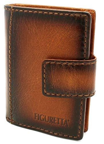 Figuretta by Taled Premium Leder RFID Geldbörse London - Praktisches smart Wallet mit Aluminium Kreditkarten-etui und Münzfach + Gratis E-Book