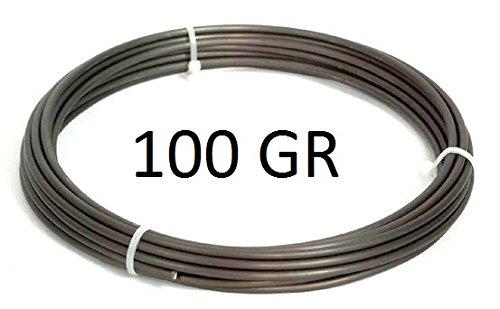 Bonsaï fil aluminium, 1,0 mm, 100 g, de ca 47 braunschwarz m mat
