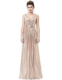 Damen Elegant Abendkleider Lang Lace Mermaid Brautjungfernkleid  Hochzeitskleider 168db82d58
