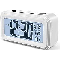 Skyllc LED Wecker Radio AM//FM Dual Band Soundance Digitalanzeige der Zeit Batterie Unterst/ützung f/ür B/üro Schlafzimmer zu Hause