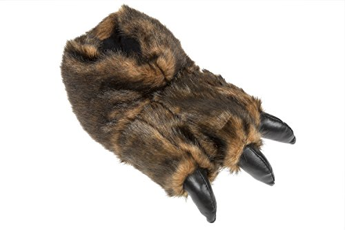 Pantofole Animali Gibra® Ciabatte Con Zampe, Gr 40-45 Marrone