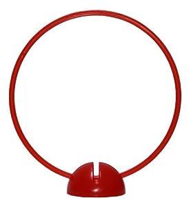 agility sport pour chiens - socle multi-fonctions remplissable avec cerceau Ø 50 cm, couleur: rouge - 1x xsR50r