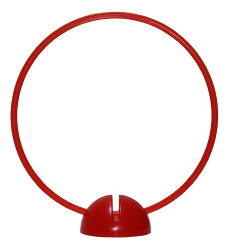 Agility Hundesport - X-Standfuß, rot und Ring / Reifen Ø 50 cm, rot