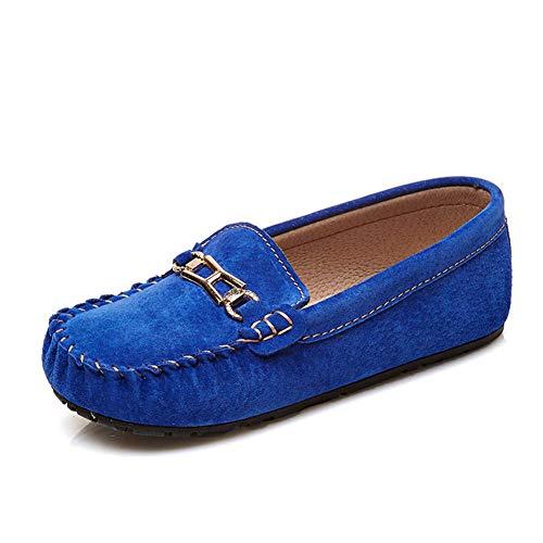 GPF-fei Boy-Schuh Girls Schuhe Loafers Schuhe Single Schuh Peas Schuhe Metallic Leder Feder Lazy Schuhe Comfortable Fashion Breathable Leisure,Green,31