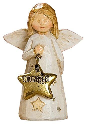 GILDE Dekoschutzengel Weihnachtsengel, braun beige gold, 3,5x6x8,5 cm