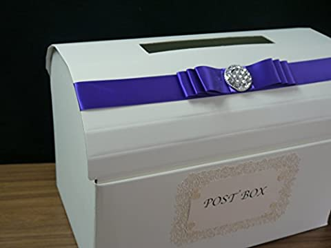 Chest Post Box - various colours with choice of diamante embellishments