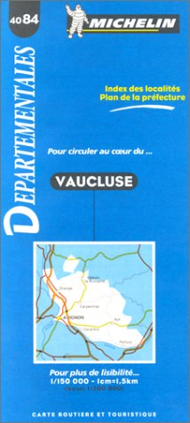Carte routière : Vaucluse, 4084, 1/150000 par Carte Michelin