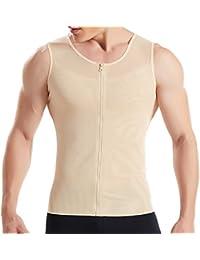 9957660201 HANERDUN Mens Slimming Body Shaper with Zipper Compression Shirt Slim  Shapewear