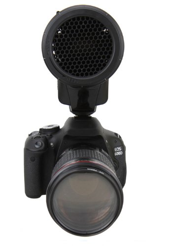 Variabler Waben Aufsatz JJC SG-L für größere Aufsteckblitzgeräte z.B. Canon Speedlite 540EX / 550EX, Nissin DI 622, Pentax AF-540 FGZ, HVL-F58AM u.v.a.