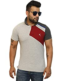 Yross Cut 'N' Sew Men's Poly Cotton Light Grey Polo T-Shirt