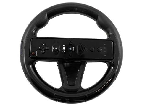Lenkrad Steering Wheel schwarz / black für Nintendo Wii und Wii U Remote kompatibel (Wii Wheel)