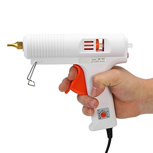 Pistola per Colla A Temperatura Regolabile per Impieghi Gravosi Trigger Flessibile per Stampanti Fai da Te E Riparazione Rapida 110W(EU-Plug)