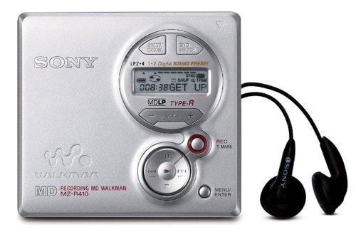 Sony MZ-R410/s tragbarer MiniDisc-Rekorder silber