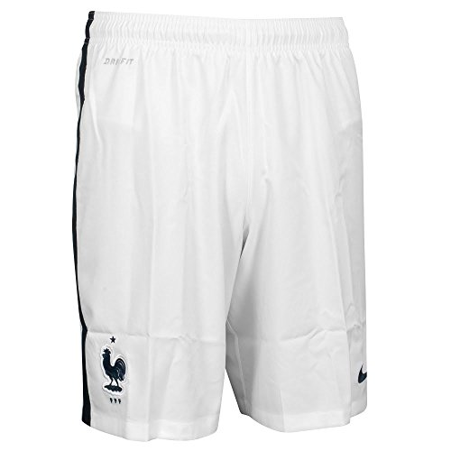 Nike FFF M H/A Stadium Short - Pantalón Corto Federación Francesa de Fútbol 2015/2016 para Hombre, Color Blanco/Negro, Talla XL