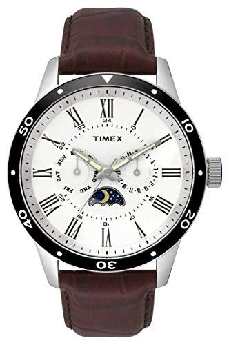 Timex Herren Multi Zifferblatt Quarz Uhr mit Leder Armband TW2R57100 (Timex Armband Leder)