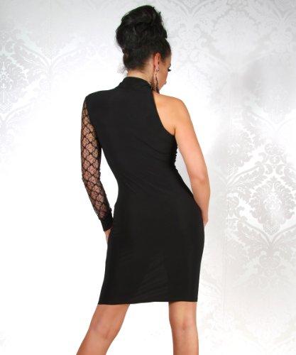 Mini-robe à dentelle Noir - Noir