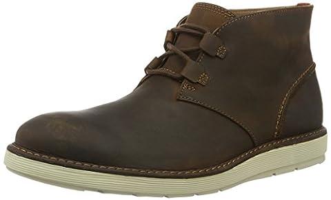 Clarks Herren Fayeman Hi Desert Boots, Braun (Beeswax), 41.5 EU