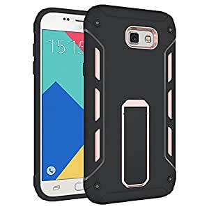 Bounceback Shockproof Dual Layer Tpu + Pc Ultra Stand Armor Grip Back Case / Cover For Samsung Galaxy On Nxt / J7 Prime - Rosegold