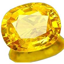 Color Gems Cultured Pukhraj (Yellow Sapphire) Loose Precious Gemstone Certified 5.25 Ratti For Unisex