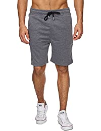 Reslad Kurze-Hose Herren Jogginghose Kurz Sweat-Shorts Basic Sport Freizeit Sweat-Hose RS-5061
