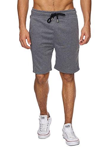 Reslad Kurze-Hose Herren Jogginghose Kurz Sweat-Shorts Basic Sport Freizeit Sweat-Hose RS-5061