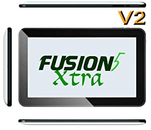 """FUSION5 XTRA v2 Tablet PC - 10.1"""" Screen - QUADCORE - NOW IN ANDROID 4.4 KITKAT (FROM SEPTEMBER 2014) - DUAL CAMERA - 16GB STORAGE - 1GB RAM - BLUETOOTH - Capacitive 5-Point Touch Screen"""