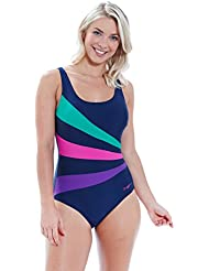Zoggs Women's Sandon Scoopback Swimming Costume with Fixed Foam Cups