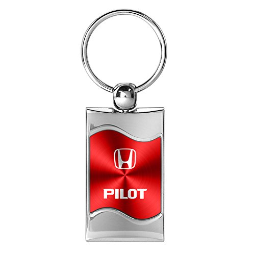 honda-pilot-red-spun-brushed-metal-key-chain