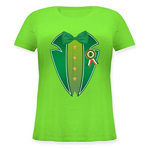 St. Patricks Day - Leprechaun Kobold Kostüm - XL (50/52) - Hellgrün - JHK601 - Lockeres Damen-Shirt in großen Größen mit Rundhalsausschnitt (Paddy's Day Kostüm)