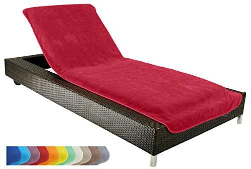 Schonbezug für Gartenliege, Strandliegenauflage, Frottee Schonbezug, 100% Baumwolle - ca.75x200 cm...