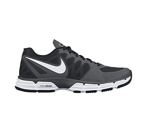Nike Dual Fusion, Herren Sportschuhe-Fitness, Training Sneaker Sport/Fitnessstudio/zum Schnüren Black/White/Gry