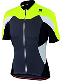 Sportful Maillots Cranck Jersey Anthracite / Yellow Xxl