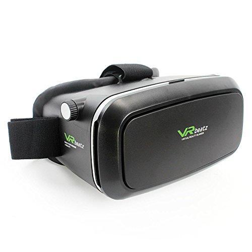 VR Beatz Virtual Reality Brille V2 von VR Beatz - Deep Immersive Erlebnis auf 3D-Filmen und Spielen, extra Belüftung, leicht und bequem, passend für iPhone Samsung Galaxy 10,2-15,2 cm