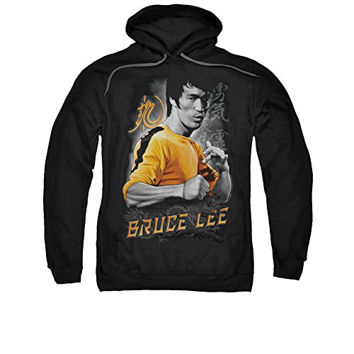 Bruce Lee Martial Arts Yellow Dragon Adult Pull-Over Hoodie