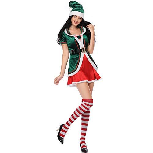 BERTHACC Weihnachtself Kostüm Set, Unisex Erwachsene Kinder