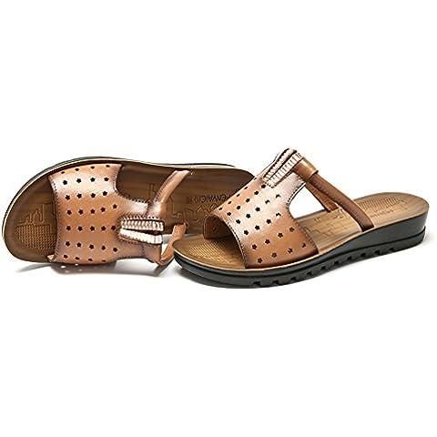 LYF KIU Antiscivolo inferiore molle sandali di cuoio femminili/ sandali estate all
