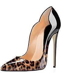 f6e568ede4c9 EDEFS Damen Spitze Zehe Schuhe 120mm High Heel Pumps Hohen Absätzen  Geschlossen Abendschuhe