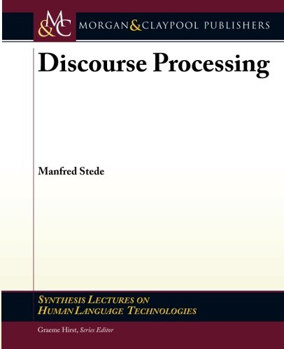 Discourse Processing par Manfred Stede