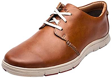 Clarks Men's Milloy Vibe Tan Sneakers - 10 UK