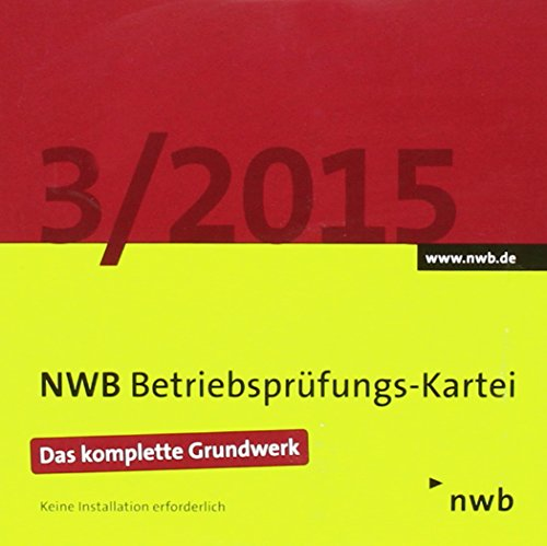 NWB Betriebsprüfungs-Kartei, CD-ROM