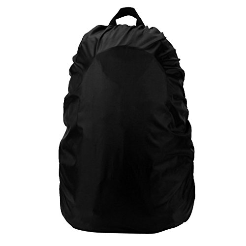 Segolike 45-55L Waterproof Dust Rain Cover for Outdoor Sports Cycling Travel Hiking Backpack Camping Rucksack Bag - Various Color - black  available at amazon for Rs.345