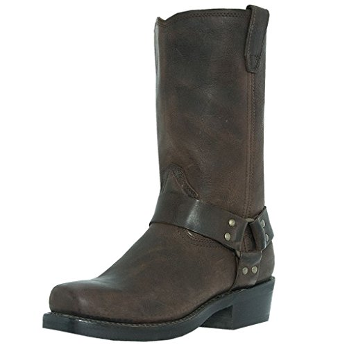 Dingo Herren Jay alle über Gaucho Nutty Mule Geschirr Stiefel di19074(di19074ew16)–UK Größe: 15-extra breit (Leder Stiefel Fashion Dingo)