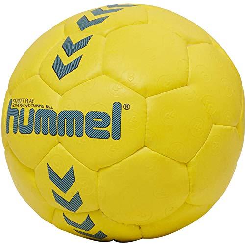 hummel HMLSTREET Play - Handball für Kinder Safety Gelb/Blau Nacht, 0