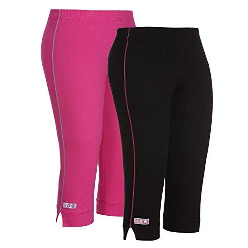 OCEAN RACE Women's Stylish Cotton Capris Combo-3/4 Th Pant-Pack of 2-OCR-151-2XL