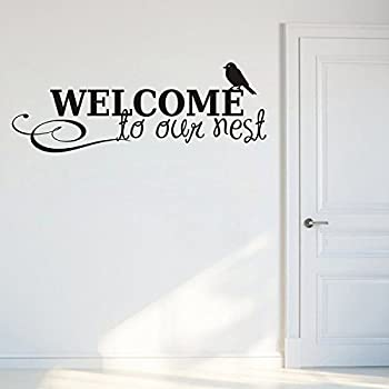 Decals Design StickersKart Wall Stickers Welcome to Our Nest (Black)