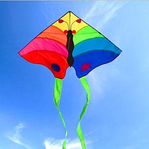 ZSYF Drachen Kite 3M Große Butterfly Drachenrolle Ripstop Nylon Drachen Regenbogen Drachen Für Erwachsene Im Freien