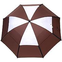 Abusa - Ombrello da golf, antivento con copertura doppia e sfiati, per attività sportive e all'aria aperta
