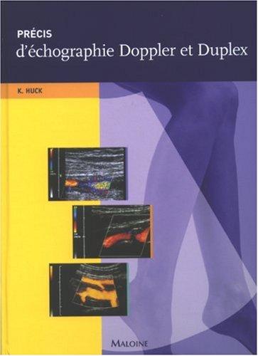 Précis d'échographie Doppler et Duplex